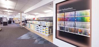 In unserem Fachmarkt in Reken bieten wir Ihnen Malerbedarf, Farben, Tapeten, Bodenbeläge und Stoffe.