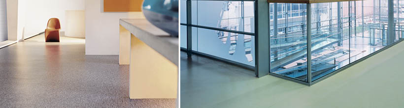 Robuster und unempfindlicher Linoleum Bodenbelag.