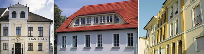 Wir renovieren Fassaden aller Art und Größe im Privat- und Gewerbebereich.
