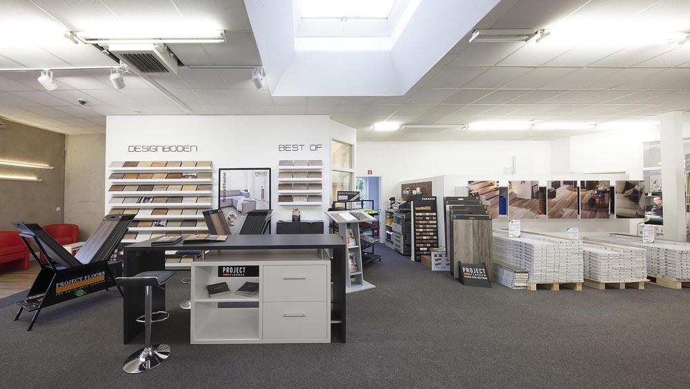 Unsere Designbodenabteilung mit hochwertigen Markenböden in Reken.