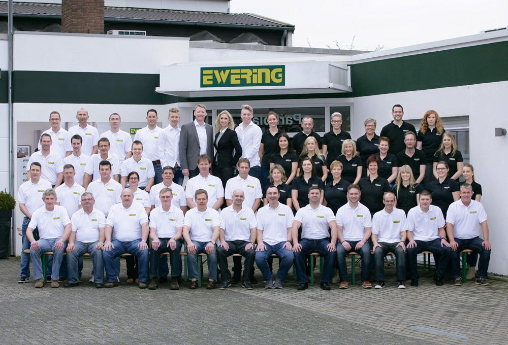 Teamfoto der Firma Ewering in Reken.