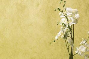 Ein glänzende Putztechnik in goldenen Farben.