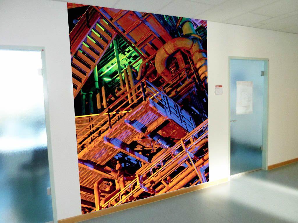 Agentur für Arbeit Dortmund individuelle Fototapete Fotomontage Industrie