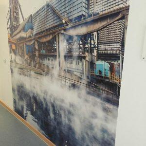Individuelle Fototapete Nachher Wand Flur Agentur für Arbeit Dortmund