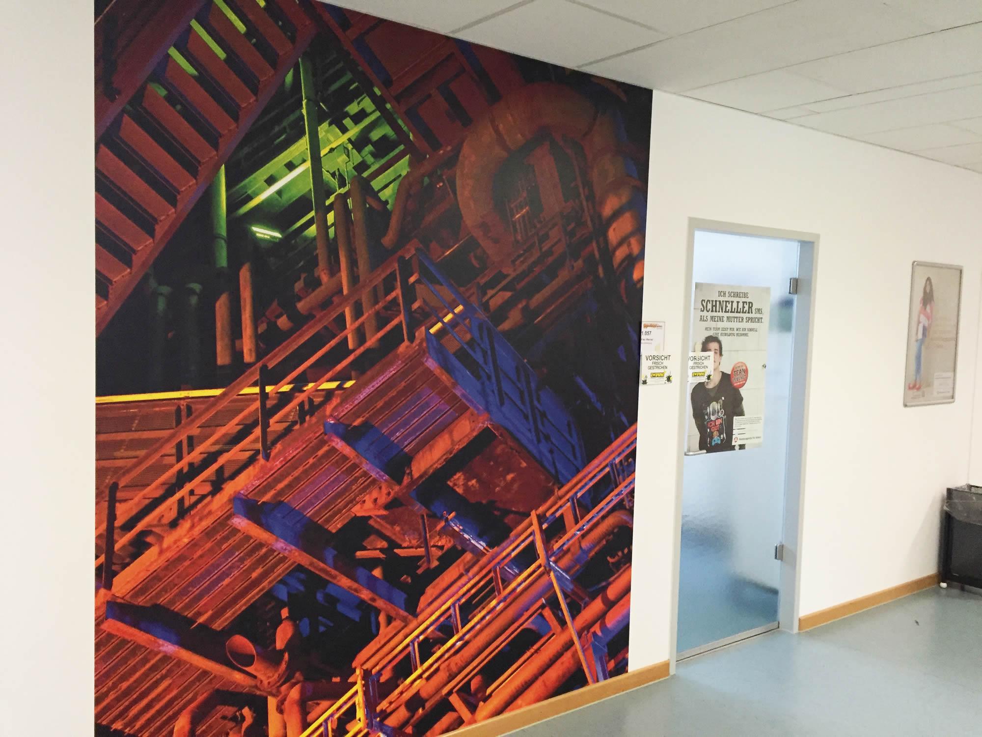 Individuelle Fototapete Flur Agentur für Arbeit Dortmund Nachher