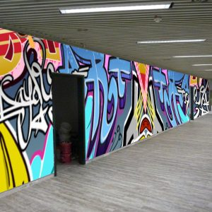 Individuelle Fototapete Graffiti AfA Essen Fotomontage