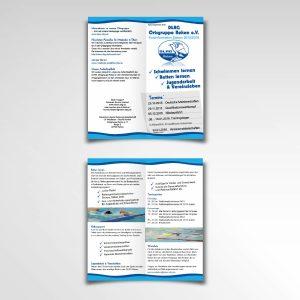 DLRG Reken Flyer Information Falzflyer Printprodukt vierseitig