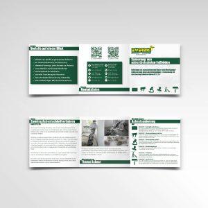 Flyer sechsseitig Faltflyer Ewering GmbH Asbestbodensanierung Information