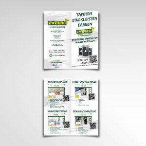 Onlinshops Ewering Raumdesign Faltflyer Infoflyer vierseitig