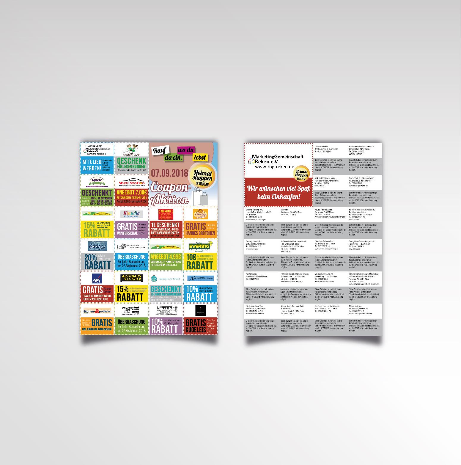 Heimatshoppen Coupons Flyer Marketinggemeinschaft Reken Couponaktion