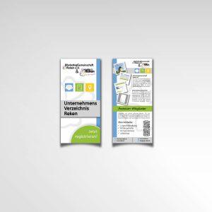 Flyer Infoflyer zweiseitig Marketinggemeinschaft Reken Unternehmensverzeichnis Gemeinde Reken