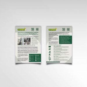 Infozettel zweiseitig Flyer Ewering GmbH Printprodukt Asbestbodensanierung