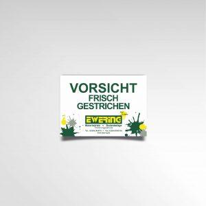 Frisch gestrichen Flyer Hinweis Ewering GmbH Information