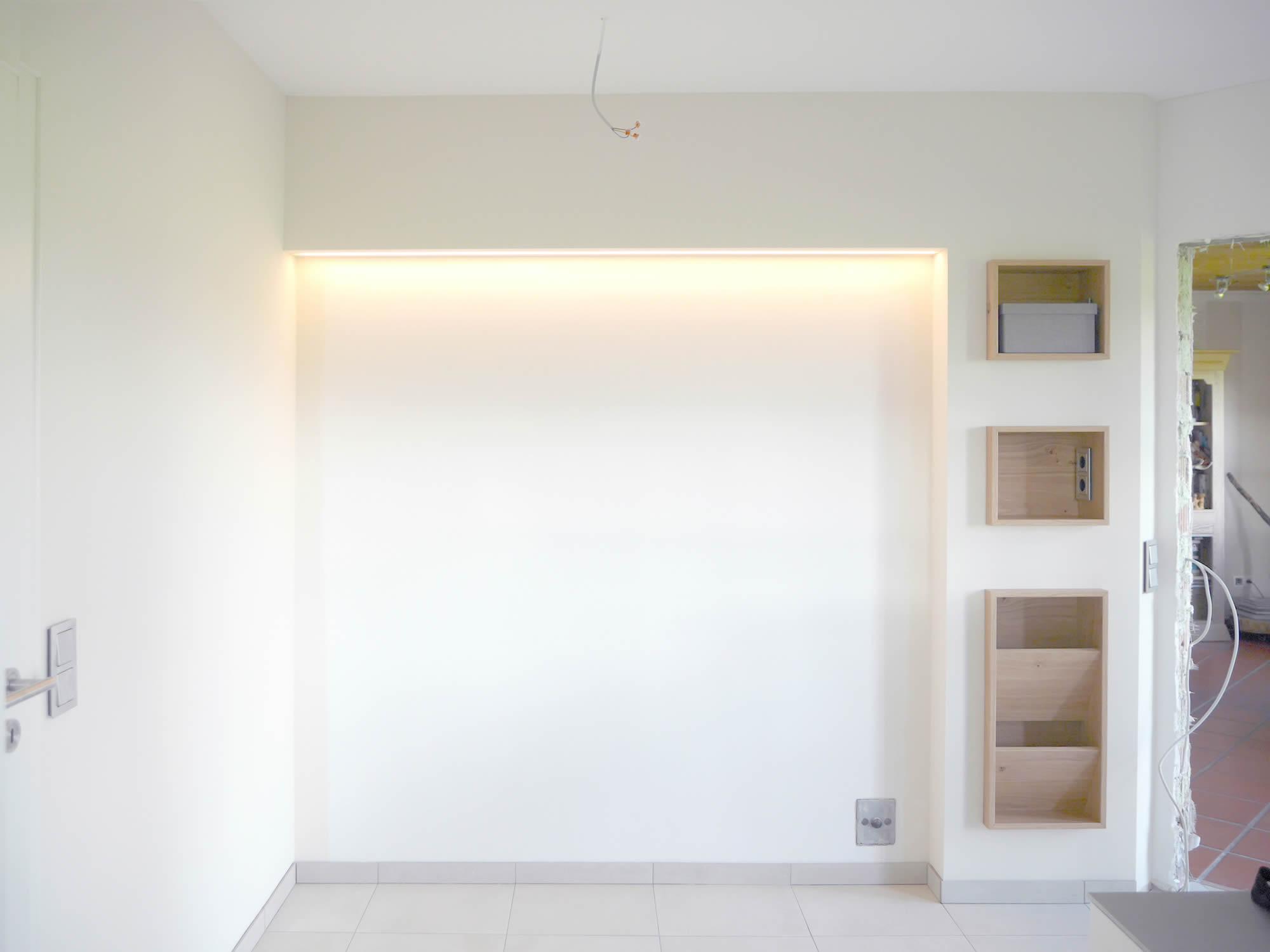Küche vorher indirekte Beleuchtung
