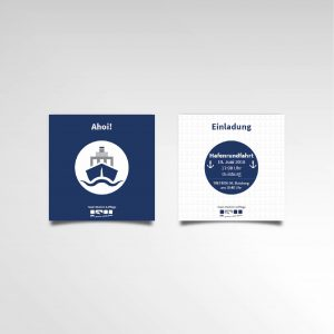 Hafenrundfahrt Einladungskarte DPL Printprodukte