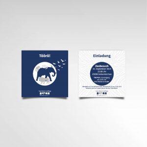 DPL Einladungskarte Karte Printprodukt Zoobesuch