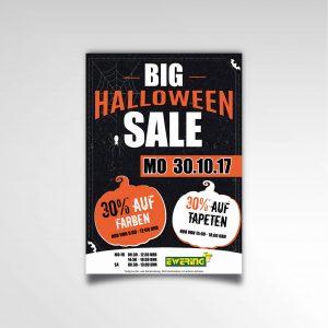 Halloween Sale Plakat Poster Ewering Raumdesign Printprodukt