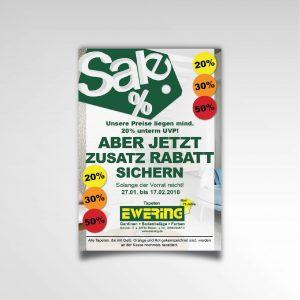 Ewering Raumdesign Plakat Poster Sale Printprodukt Rabattaktion