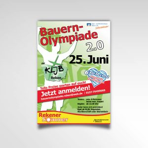 Plakat Poster KLJB Rekener Sommer Bauernolympiade Printprodukt