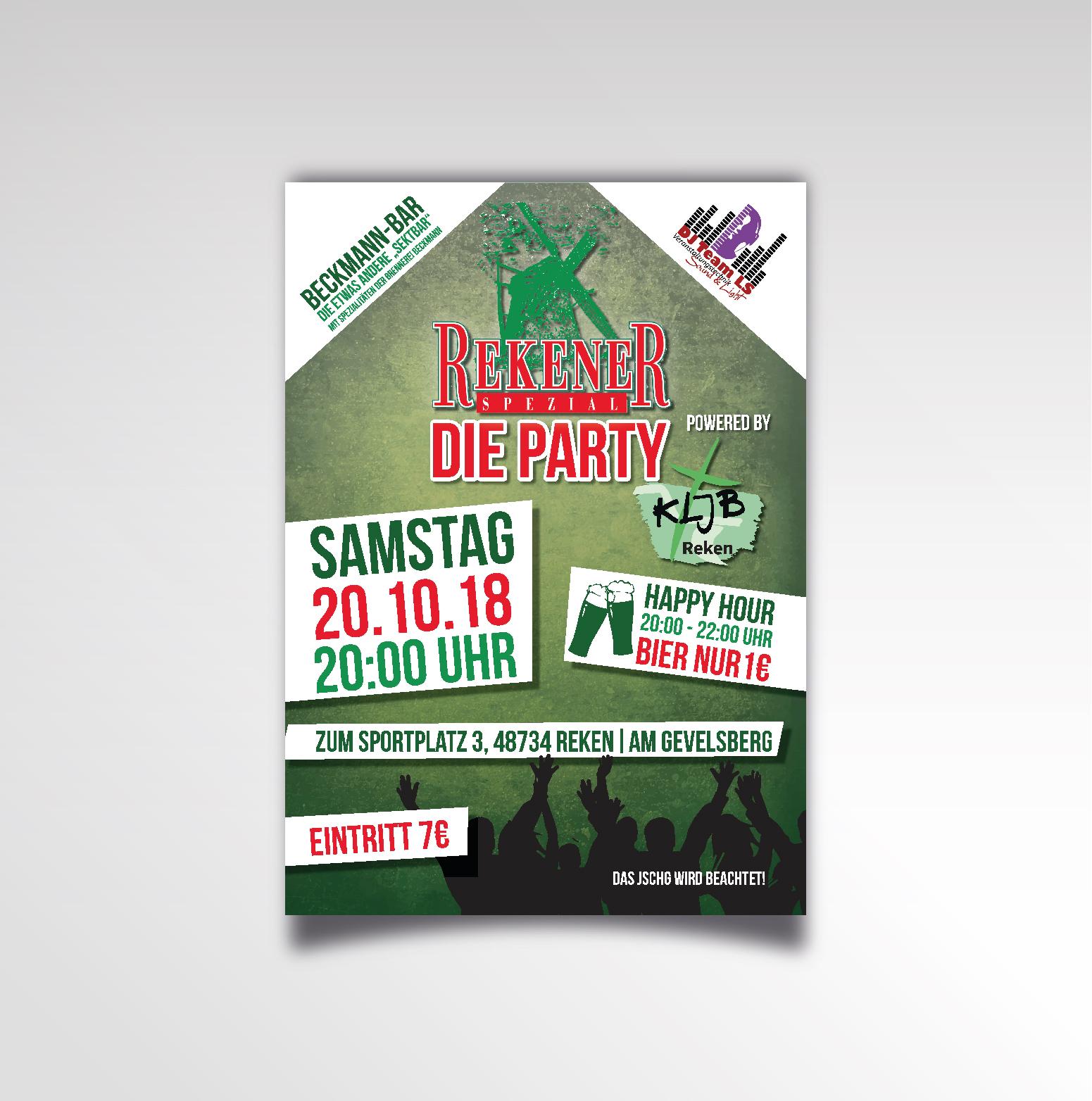 Rekner Spezial - Die Party Printprodukt Poster KLJB Reken Plakat