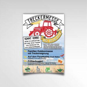 Treckermesse KLJB Reken Plakat Poster Printprodukt