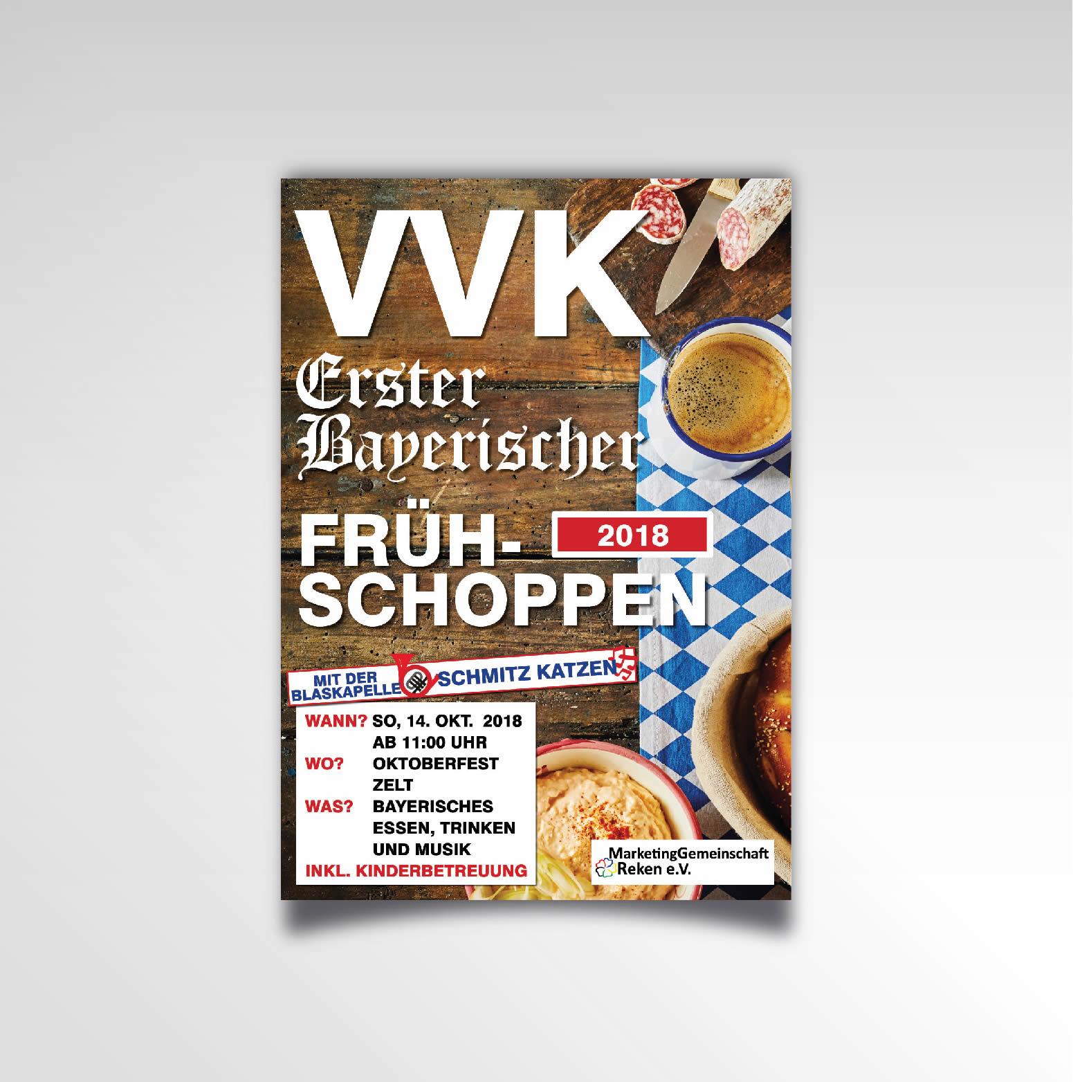 Marketinggemeinschaft Reken Frühschoppen VVK Poster Printprodukt Plakat