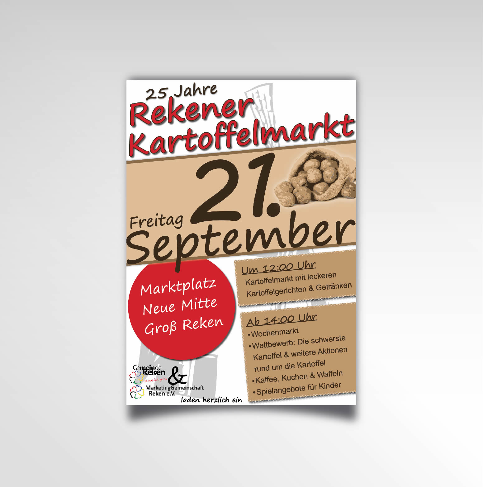 Rekener Kartoffelmarkt Plakat Printprodukt Poster Marketinggemeinschaft Reken