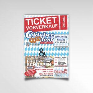 Ticketvorverkauf Oktoberfest Reken Poster Printprodukt Plakat Marketinggemeinschaft Reken