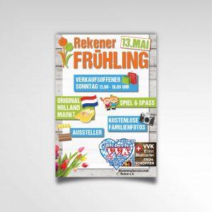 Poster Rekener Frühling Printprodukt Poster Marketinggemeinschaft Reken