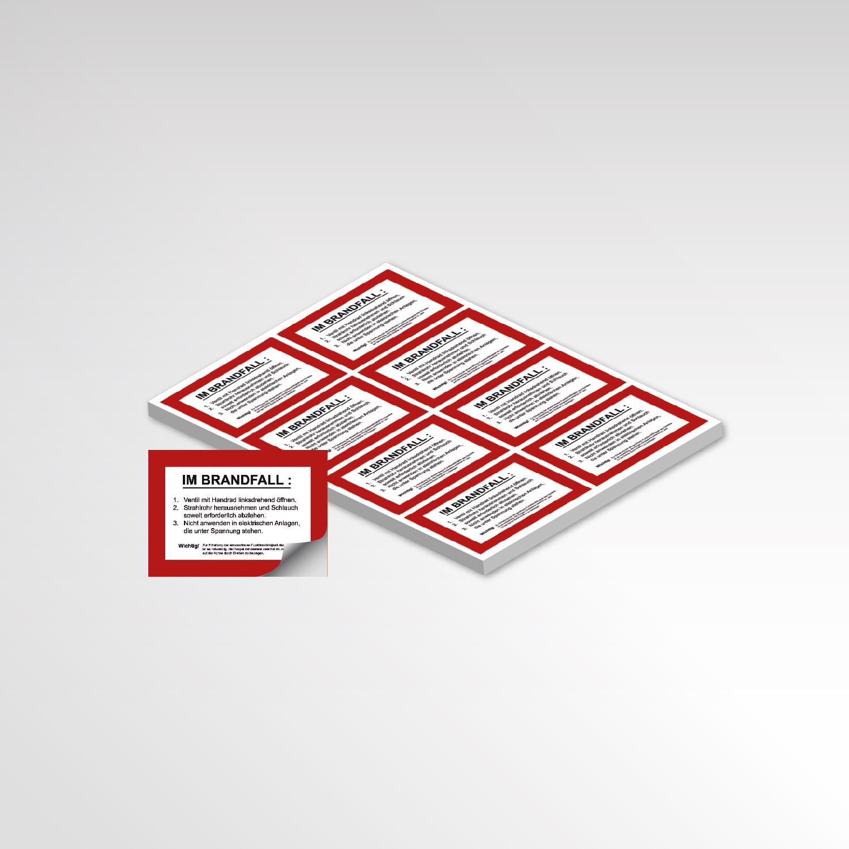 Brandschutz Aufkleber Printprodukte rot weiß