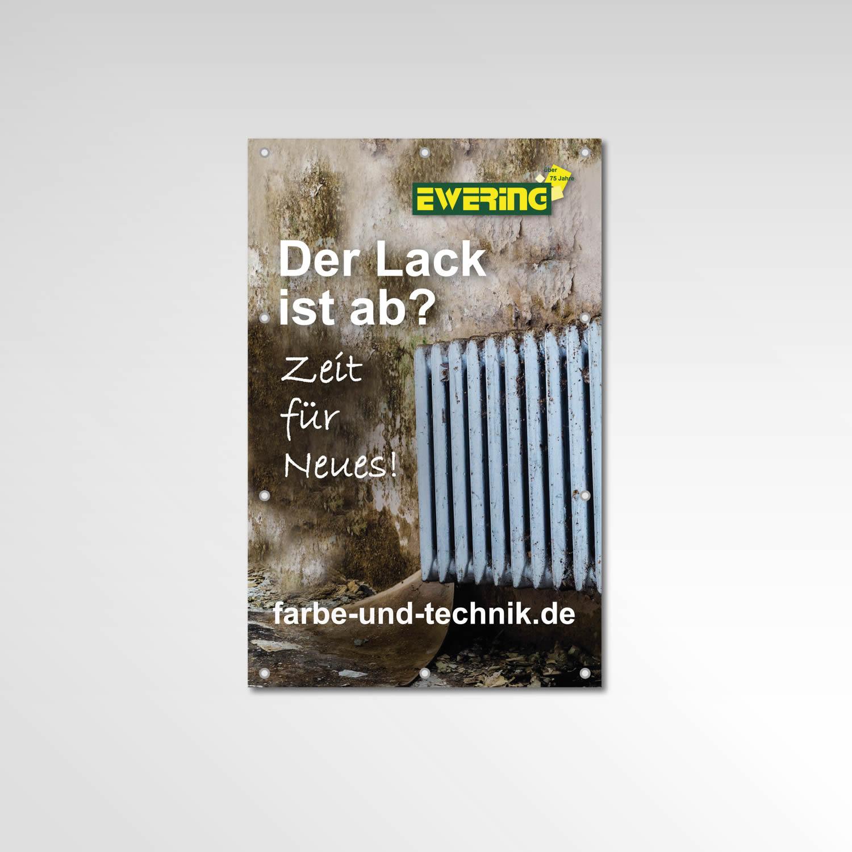 Farbe-und-technik.de Printprodukte Bauzaun Banner Ewering