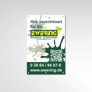 Ewering Bauzaun Banner Printprodukte Hier verschönert für Sie Werbetechnik ewering.de