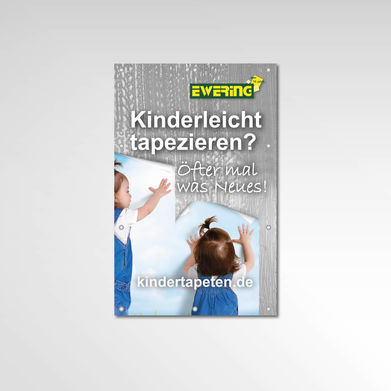 Bauzaun Banner Werbetechnik Printprodukt kindertapeten.de Ewering