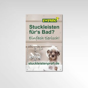 Ewering Werbetechnik Printprodukt Bauzaun Banner stuckleistenprofi.de