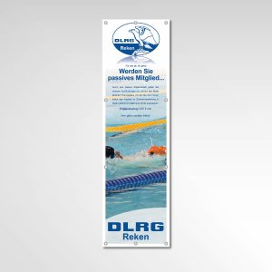 DLRG Reken Banner Werbemittel Printprodukt passives Mitglied werden