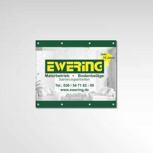 Banner Ewering Berlin GmbH Gerüstbanner Werbemittel Printprodukt