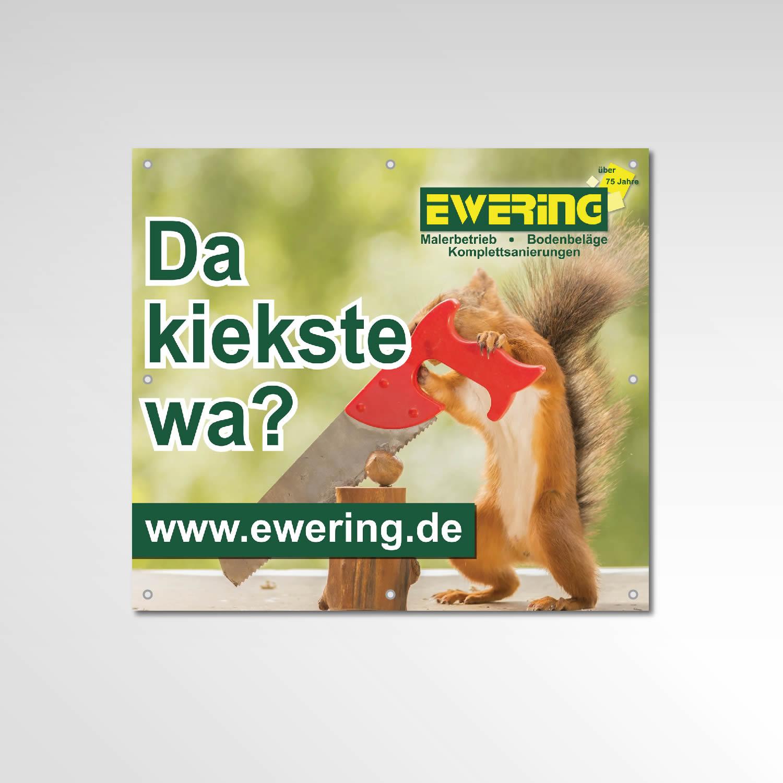 Banner Gerüstbanner Werbemittel Ewering Berlin GmbH Printprodukt Eichhörnchen