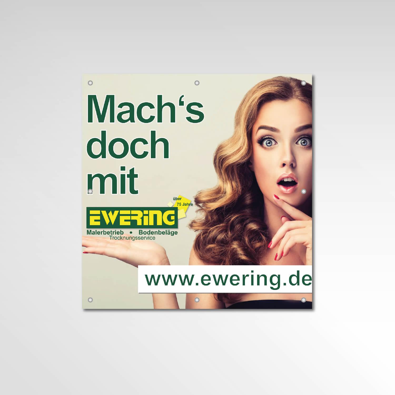 Gerüstbanner Ewering GmbH Werbemittel Printprodukt Banner