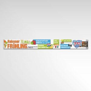 Rekener Frühling Banner Printprodukt Werbemittel Marketinggemeinschaft Reken