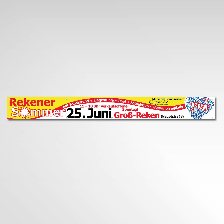 Banner Printprodukt Werbemittel Marketinggemeinschafft Reken Rekener Sommer