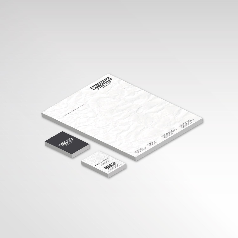 Briefpapier Visitenkarten Werbemittel Ewering Marketing Grafikdesign