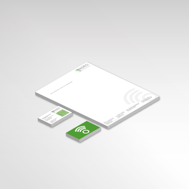 Adeo IT-GmbH Werbeartikel Printprodukte Briefpapier Visitenkarten