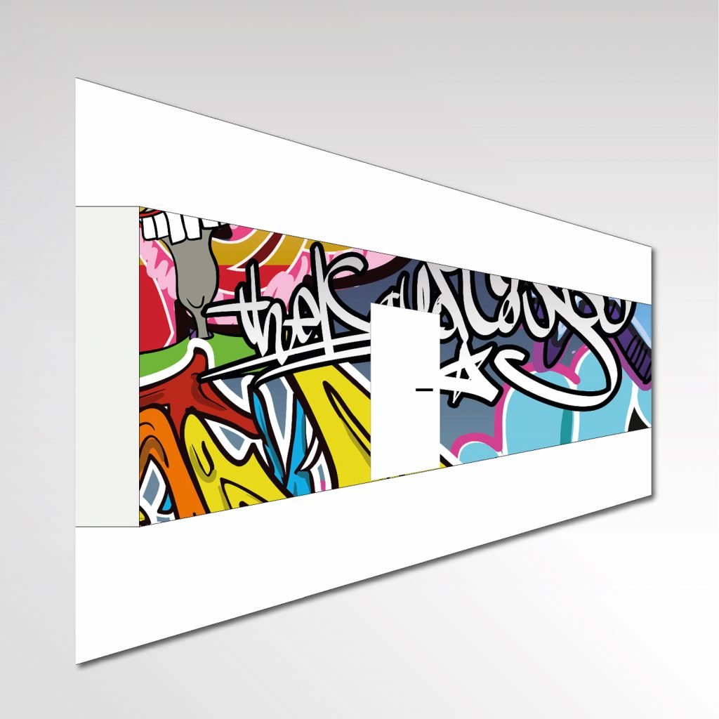 Individuelle Fototapete AfA Essen Entwurf Layout Wand