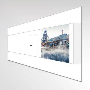 Entwurf Layout individuelle Fototapete Agentur für Arbeit Dortmund