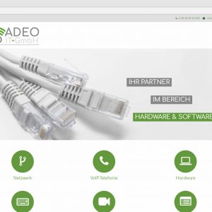 Responsive Webdesign Adeo-it.de Website Adeo IT-GmbH Startseite