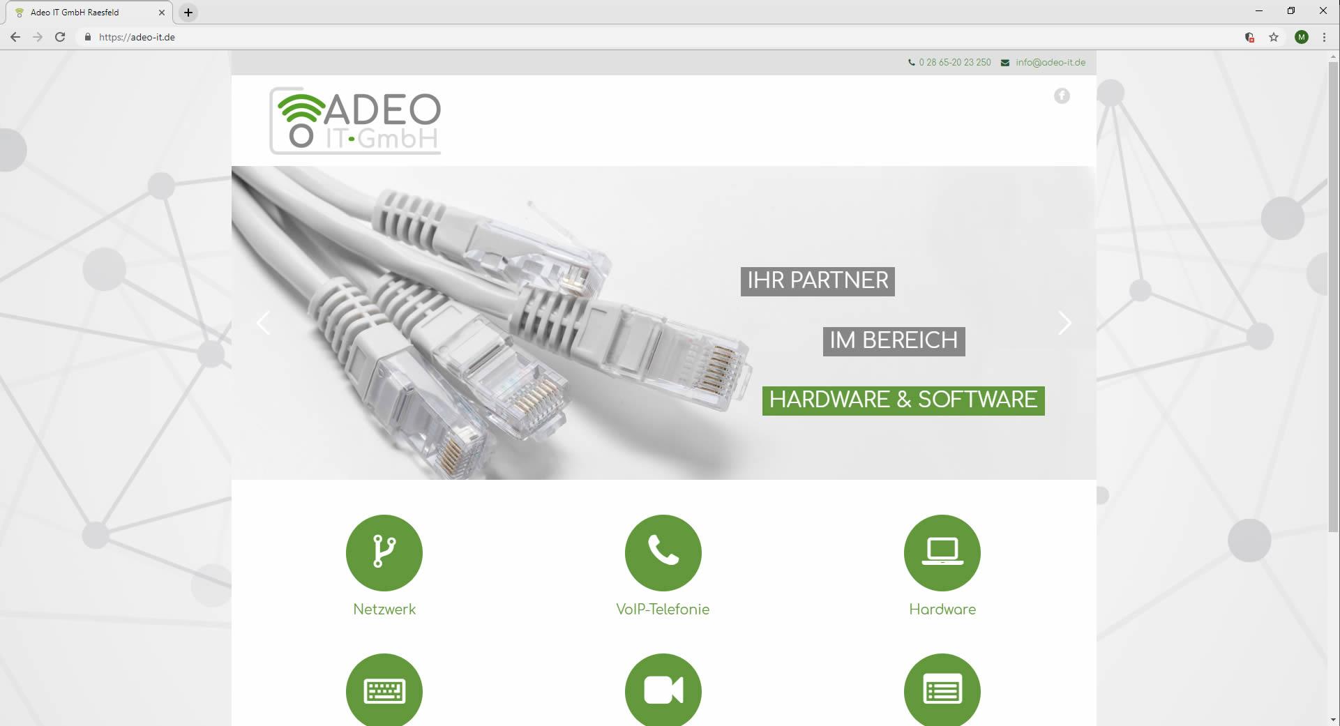 Responsive Webdesign Adeo-it.de Website Adeo IT-GmbH Startseite