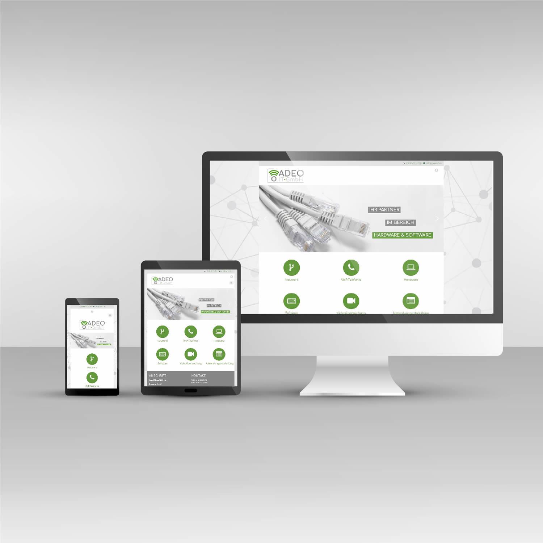 Webdesign responsive Adeo IT-GmbH Website adeo-it.de