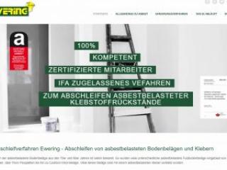 Ewering Website Startseite Webdesign asbestbodensanierung.de