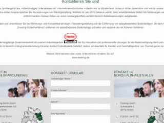 Kontakt asbestbodensanierung.de Webdesign Ewering Kontaktformular