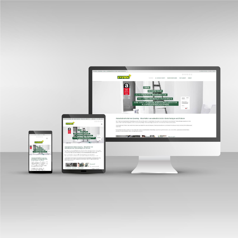 Ewering asbestbodensanierung.de Website responsive Webdesign